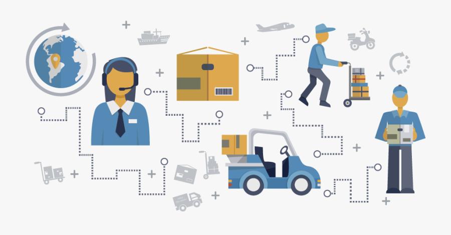 Supply Chain Logistics Png, Transparent Clipart