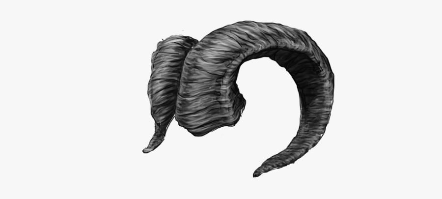 Drawn Horns Sheep Horn - Ram Horns Png, Transparent Clipart