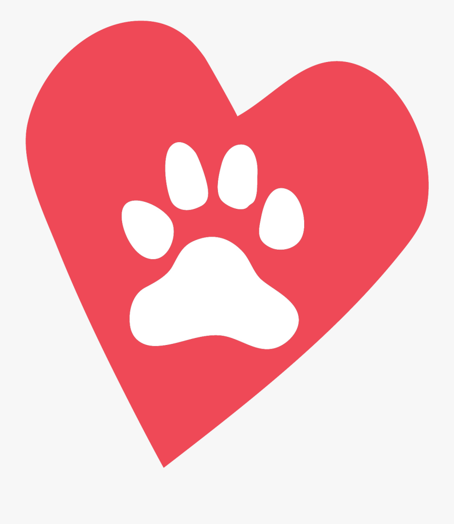 Our Pets Leave Paw Prints On Our Hearts Your Tribute - Heart, Transparent Clipart