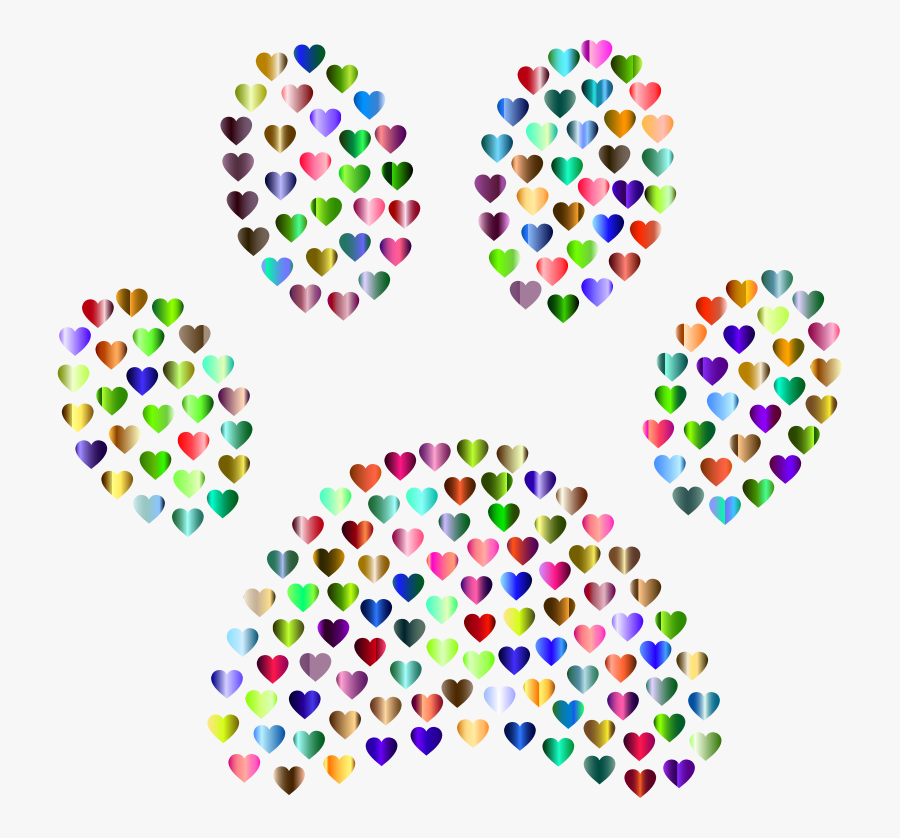 Transparent Paw Print Heart Clipart - Clip Art , Free ...