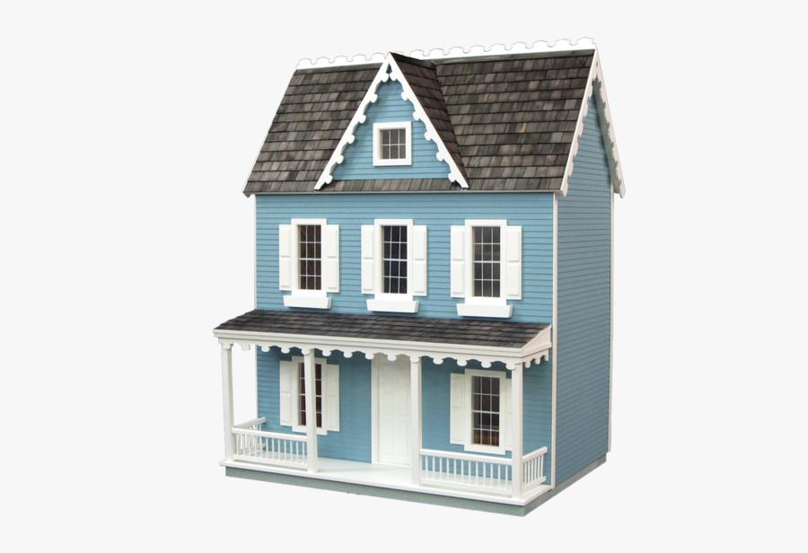 Vintage Wooden Dolls House, Transparent Clipart