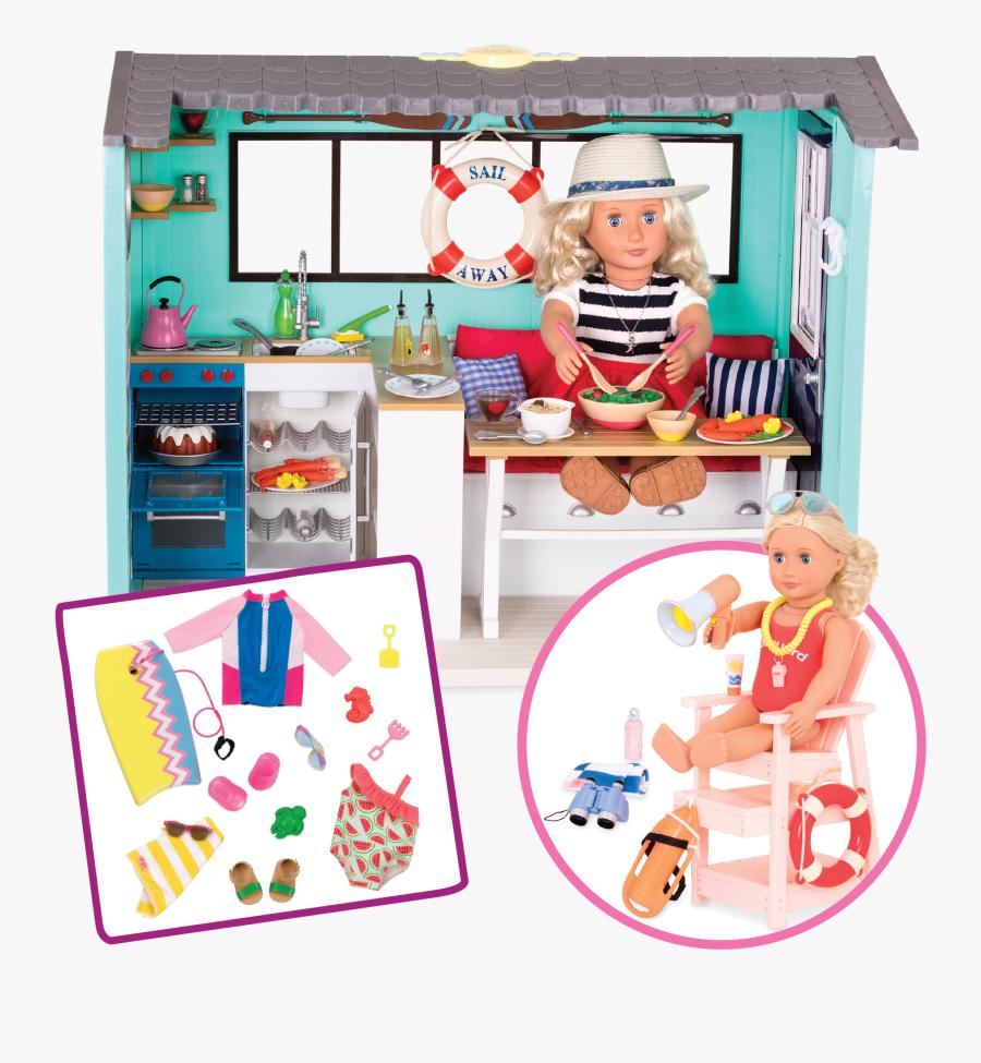 Beach House Bundle Set All Components - Our Generation Dolls Set Beach House, Transparent Clipart