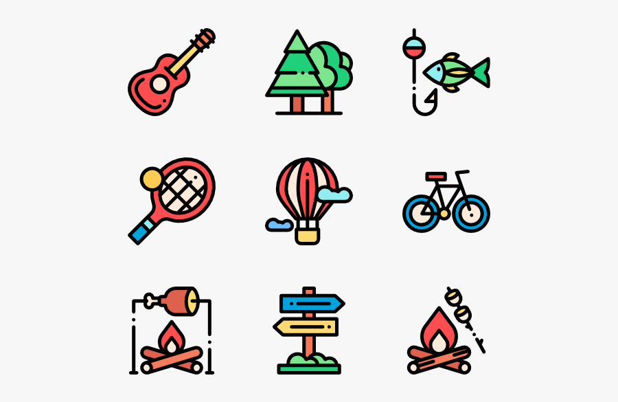 Outdoor Activities - Kids Icon Color, Transparent Clipart