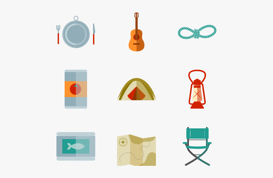 Camp Elements, Transparent Clipart