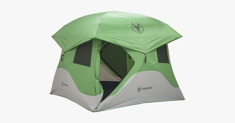 Picture Of 4 Person Gazelle T4 Hub Tent Green - Gazelle Tent T4, Transparent Clipart