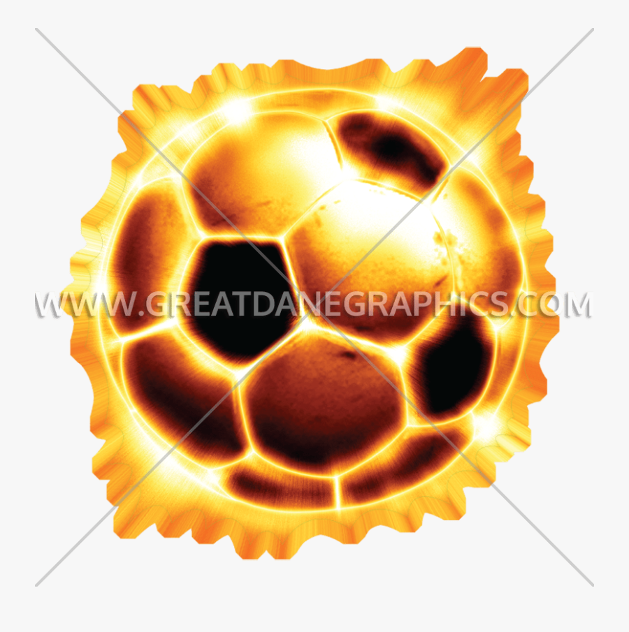 Soccer Ball Clipart Flame - Football Ball On Fire Png, Transparent Clipart