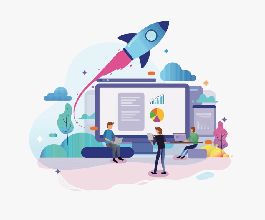 Website Design & Development - Landing Page, Transparent Clipart