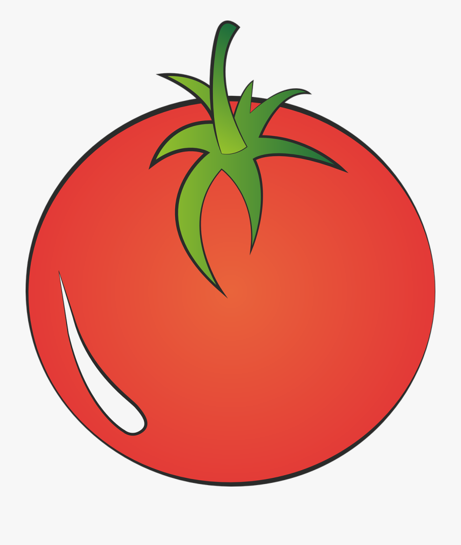 Tomato Vegetables Red Free Picture - Tomato, Transparent Clipart