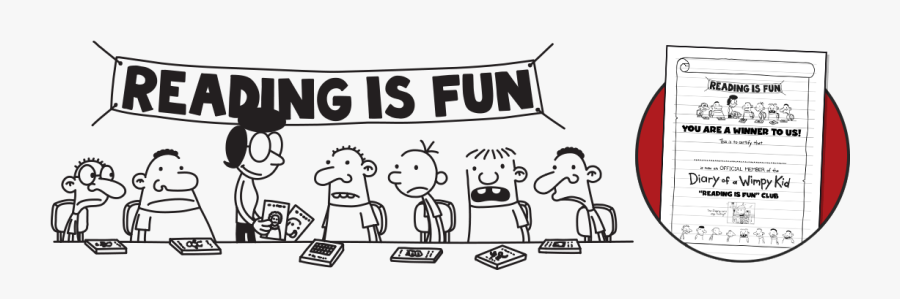 Diary Of A Wimpy Kid Reading Is Fun, Transparent Clipart