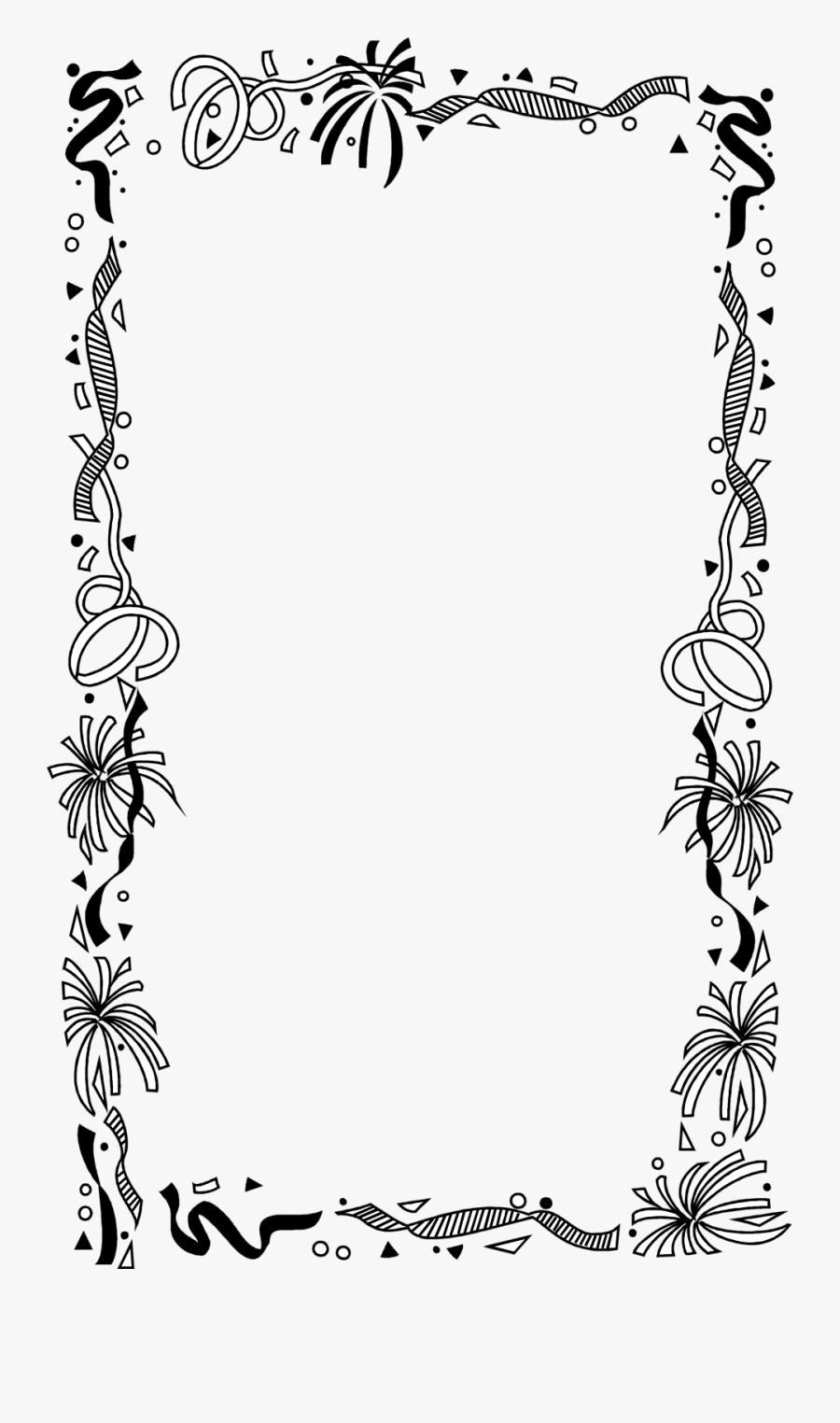 Borders And Frames Picture Frames Drawing Clip Art - Border Birthday Frame Png, Transparent Clipart