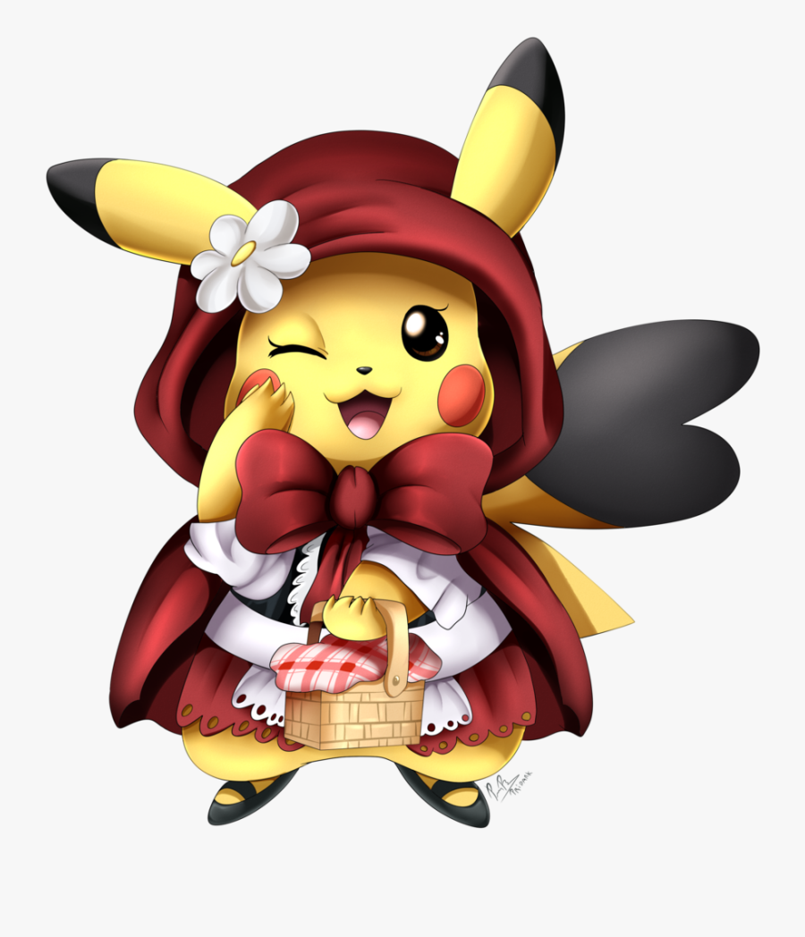 Pika Red Riding Hood - Woodcutter Little Red Riding Hood Cute, Transparent Clipart
