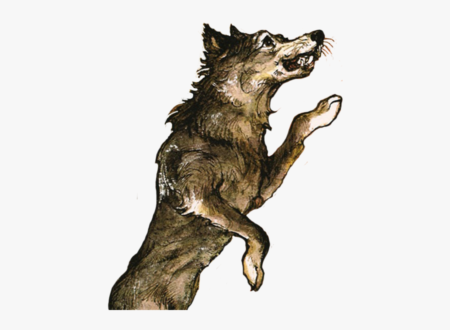 Little Red Riding Hood Png Wolf, Transparent Clipart