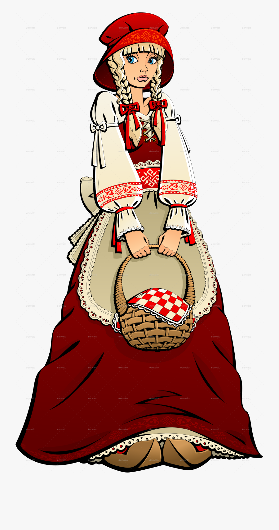 Little Red Riding Hood Characters, Transparent Clipart