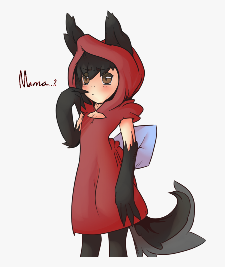 Download Little Red Riding - Drawing Little Red Riding Hood, Transparent Clipart
