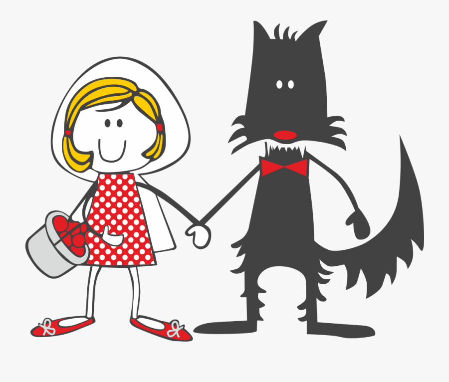 Little Red Riding Hood Illustration, Transparent Clipart