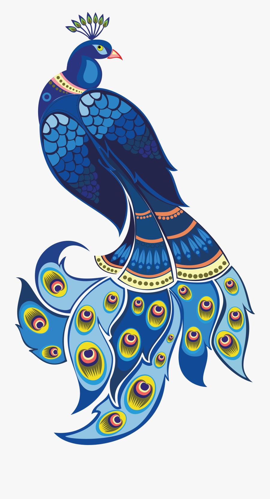 Transparent Hindu Png - Vector Transparent Peacock Png, Transparent Clipart