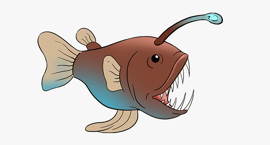 How To Draw Angler Fish - Angler Fish Drawing Easy, Transparent Clipart