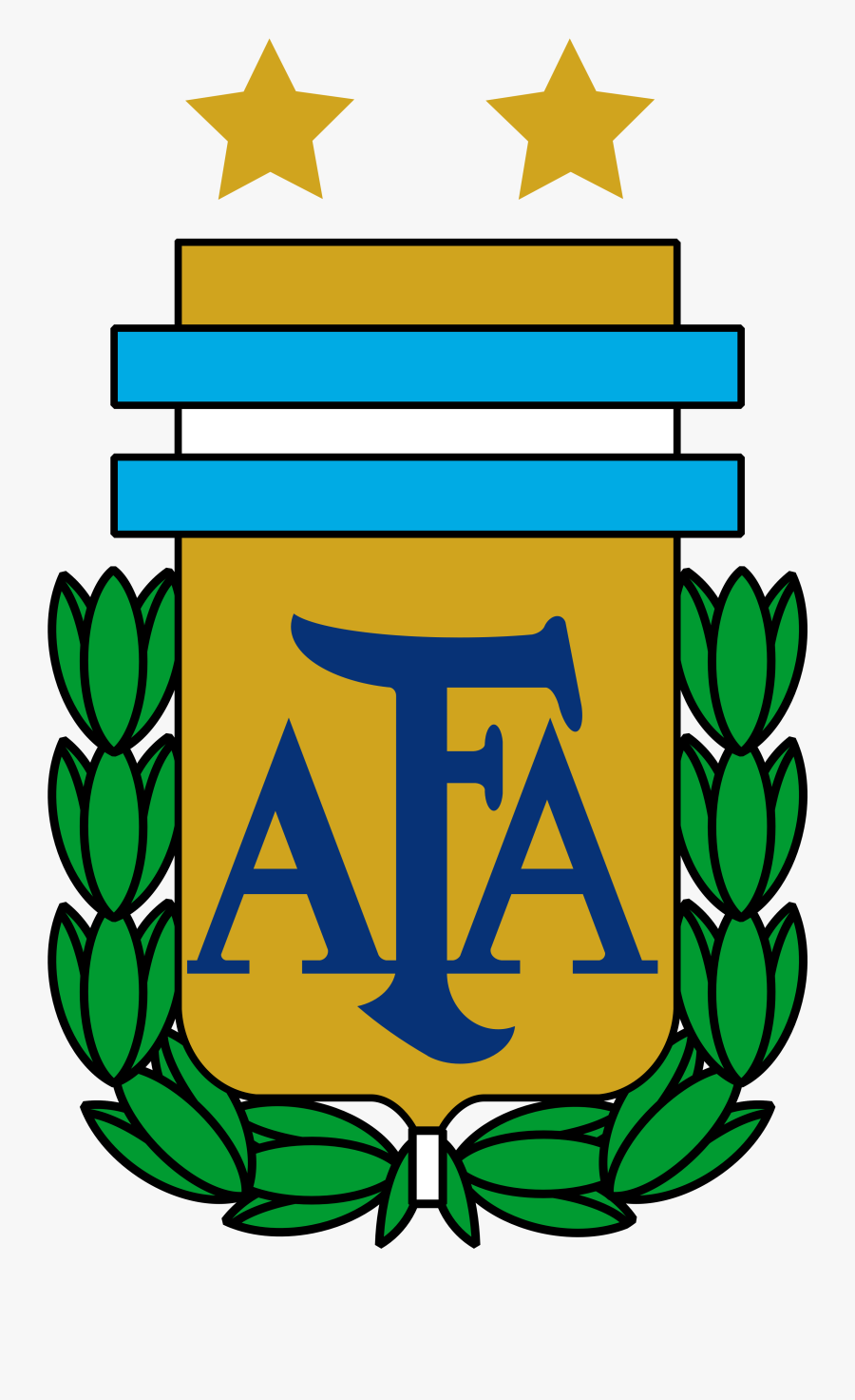 Argentina National Football Team Logo, Crest - Dream League Argentina Logo, Transparent Clipart