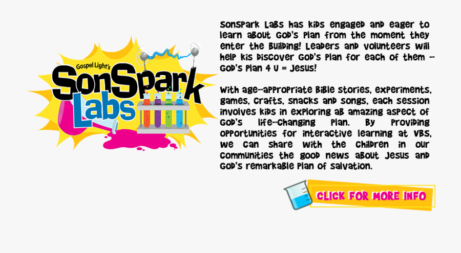 Sonsparks Vbs Hardin County Tx - Sonspark Labs, Transparent Clipart