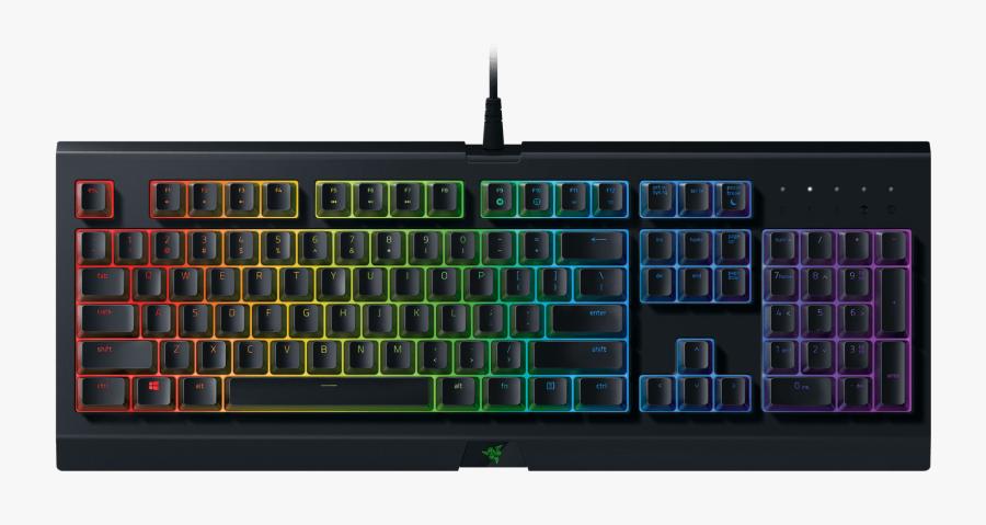 Colorful Clipart Computer Keyboard - Razer Cynosa Chroma Gaming Keyboard, Transparent Clipart