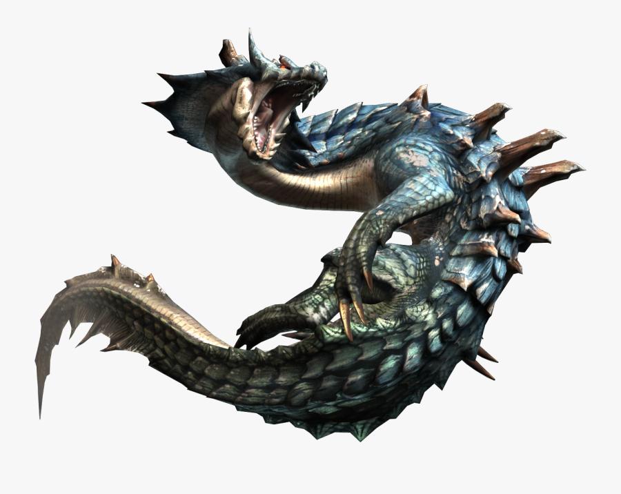 Transparent Sea Serpent Clipart - Monster Hunter Water Monster, Transparent Clipart