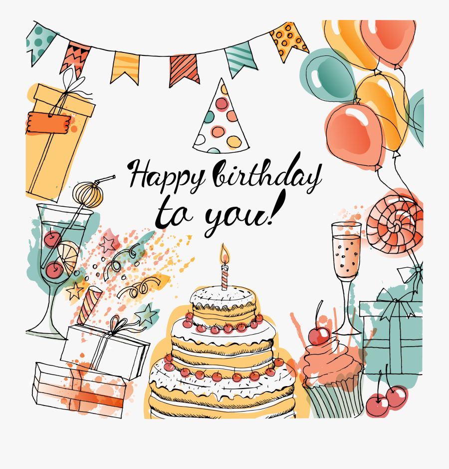 Drawing Party Birthday Decoration, Transparent Clipart