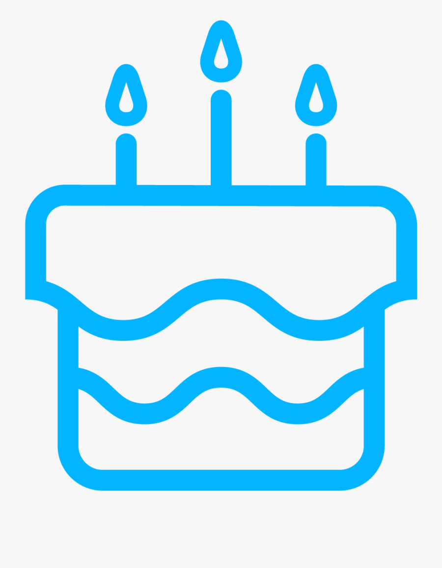 Illustration Of A Birthday Cake, Transparent Clipart