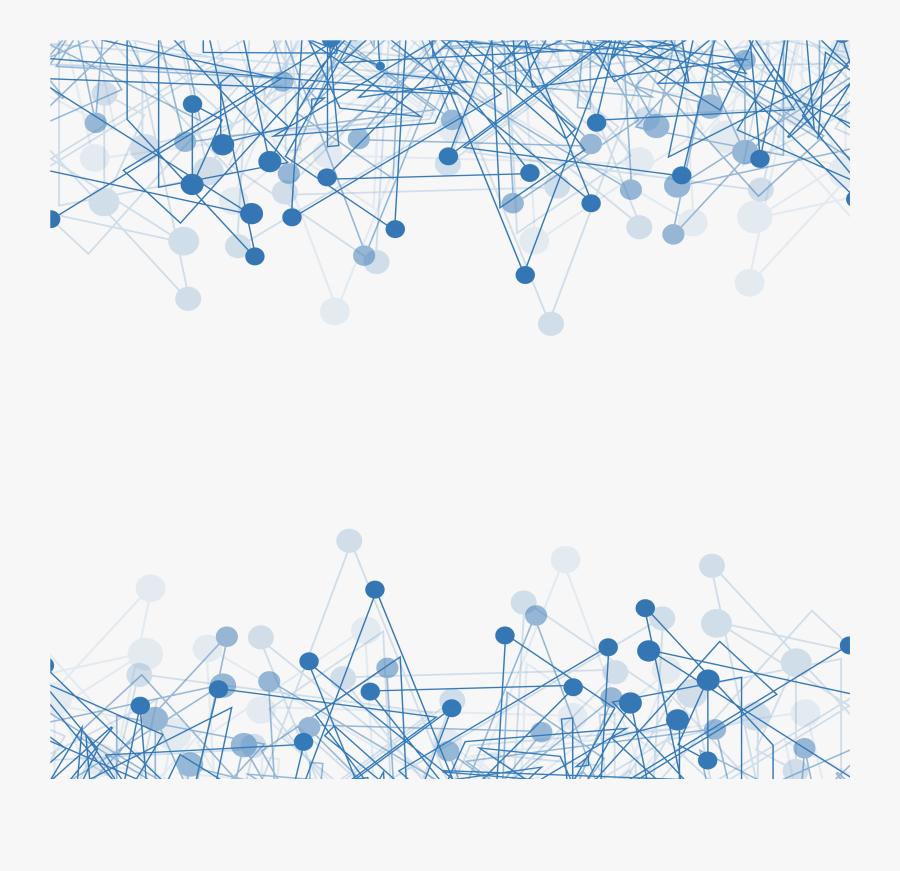 Technology, Download, Computer Network, Blue, Square - Technology Border Design Png, Transparent Clipart