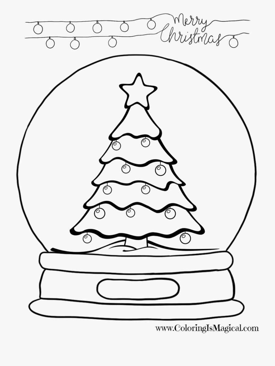 Snowglobe Drawing Christmas Best Christmas Tree Drawing Free Transparent Clipart Clipartkey