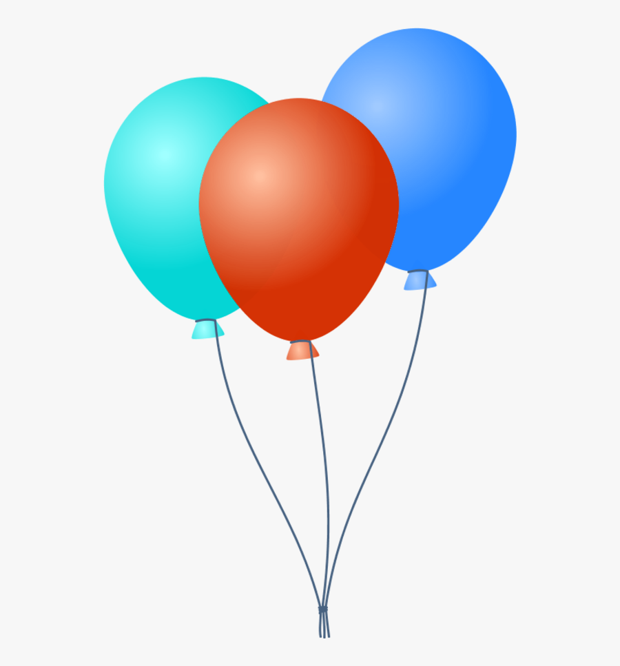 Transparent Party Balloons Clipart - Birthday Balloons Png Vector, Transparent Clipart