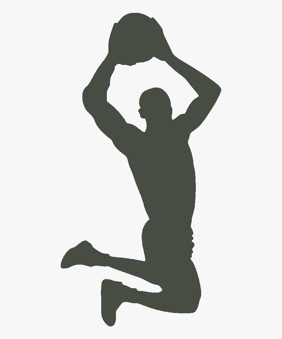 Basketball Silhouette Clip Art Dribbling Slam Dunk - Basketball Silhouette, Transparent Clipart