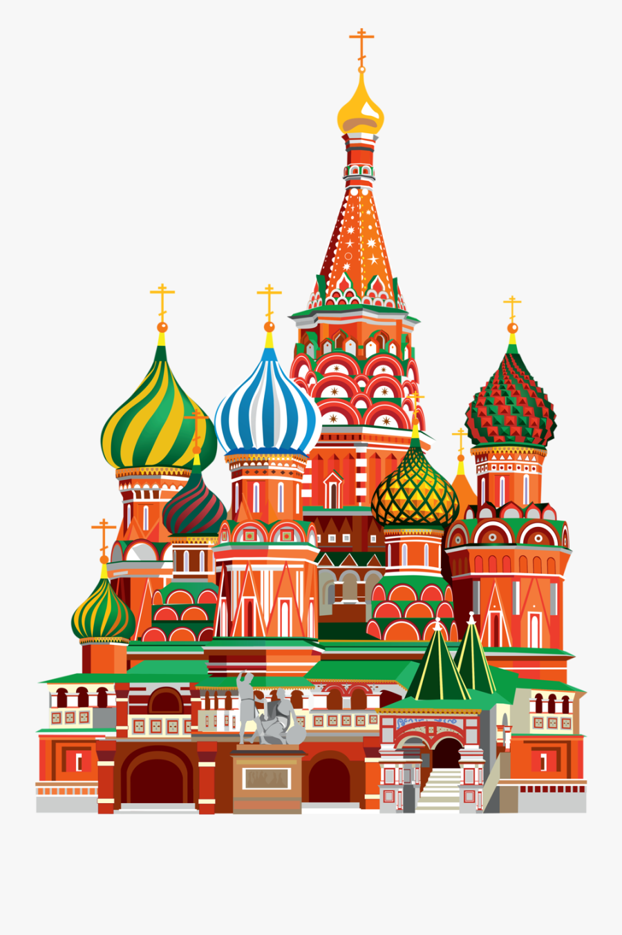 Transparent Cathedral Png - Saint Basil's Cathedral Png, Transparent Clipart
