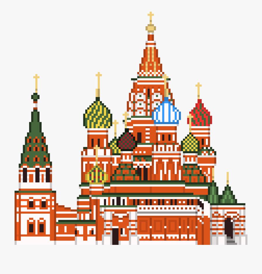 St Basils Cathedral Pixel Art, Transparent Clipart