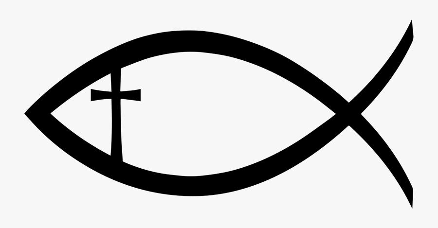 Christian Fish Symbol, Transparent Clipart
