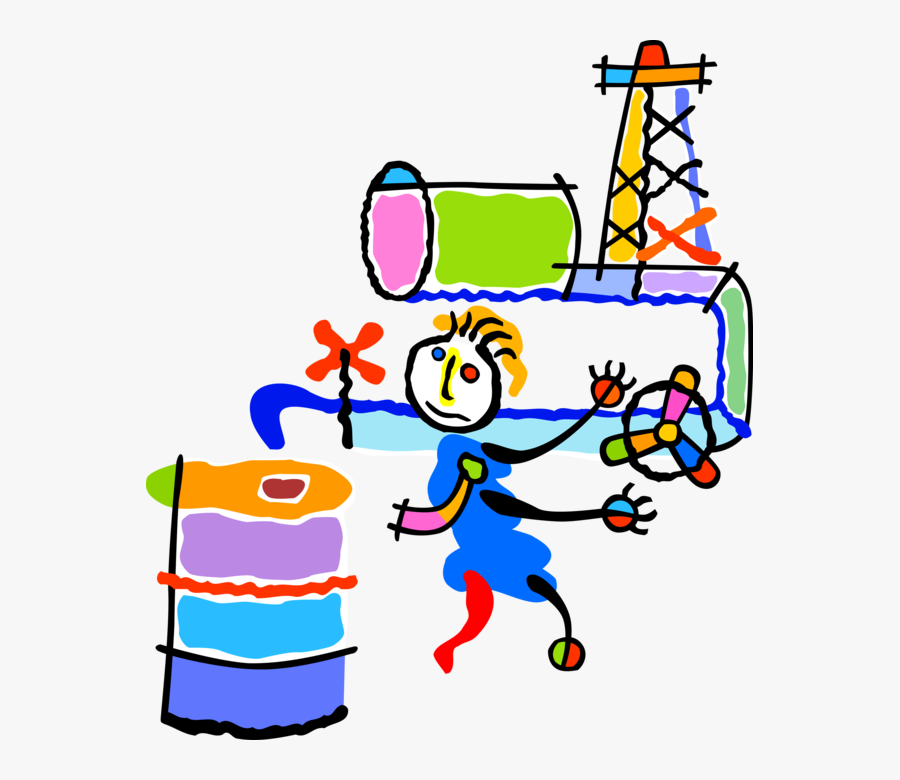 Vector Illustration Of Fossil Fuel Petroleum And Gas, Transparent Clipart