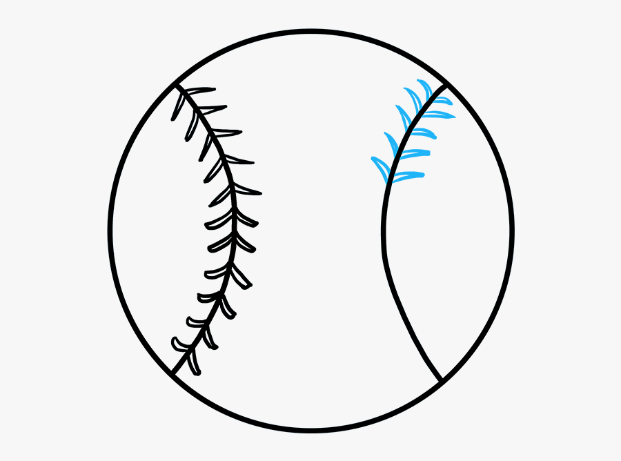 How To Draw Baseball - Baseball How To Draw, Transparent Clipart