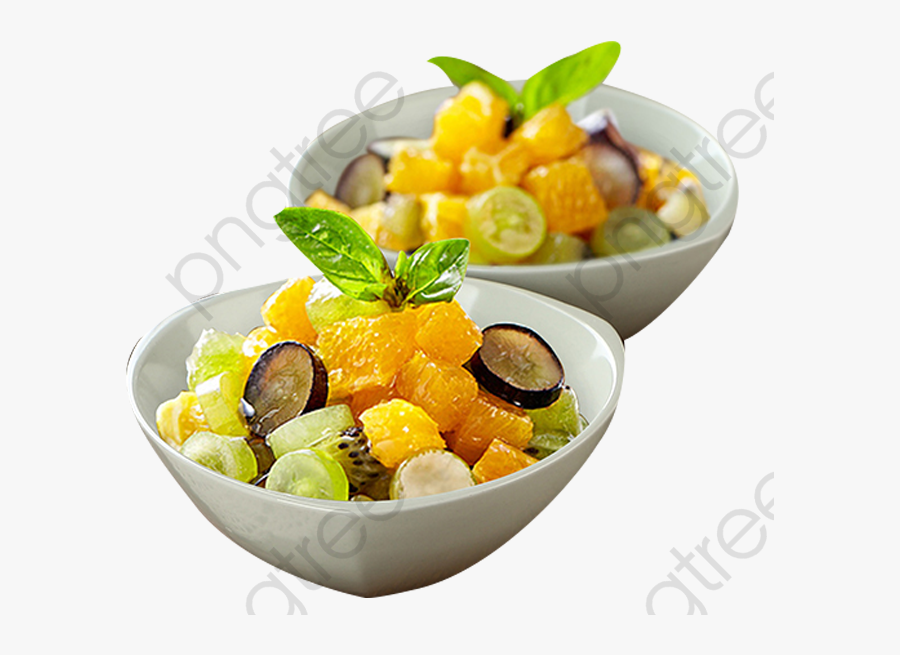 Salad Bowl Of Fruit Salad - Fruit Salad, Transparent Clipart
