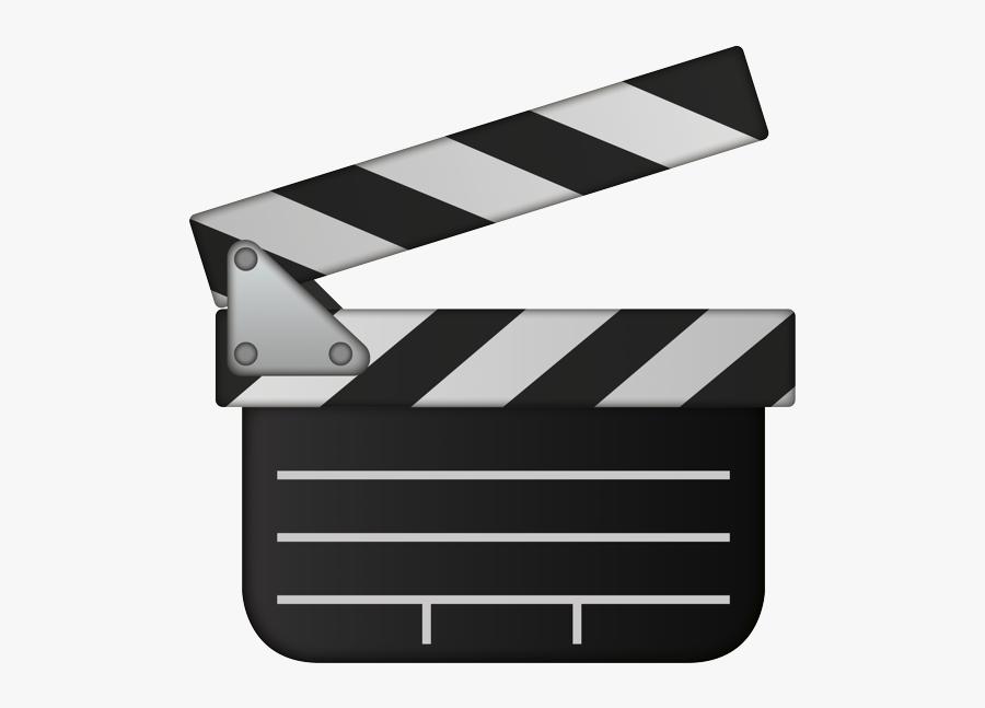 Clapper Board Emoji, Transparent Clipart