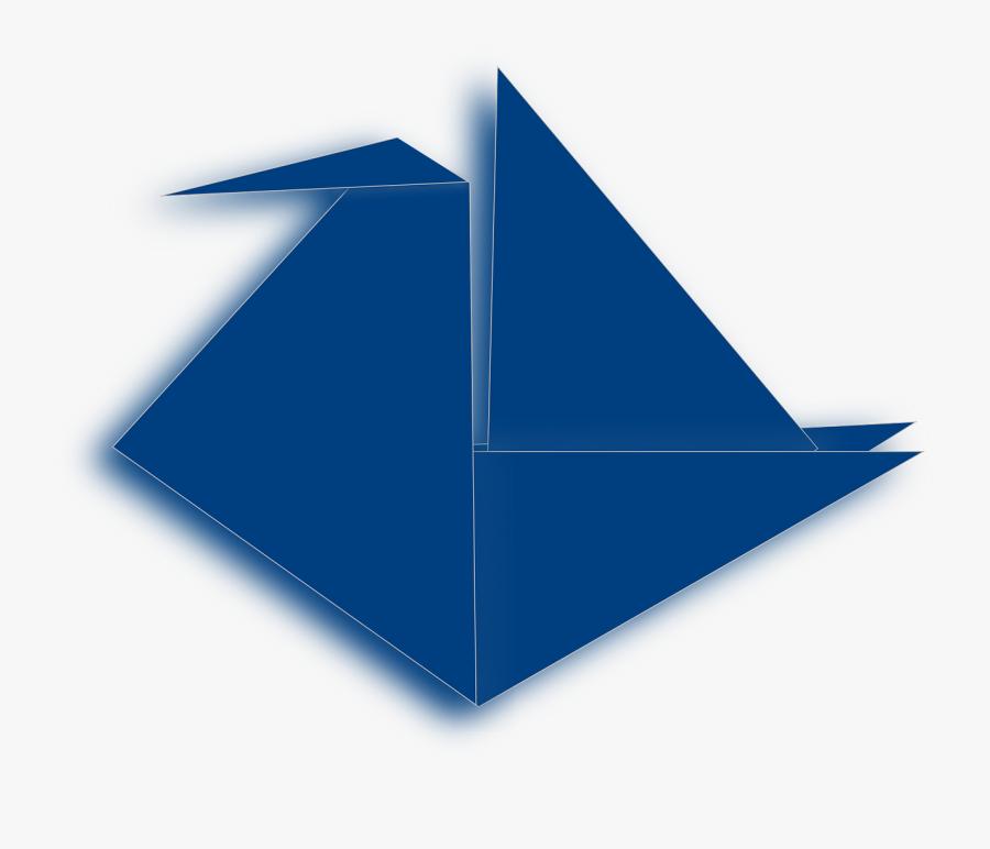 Origami, Crane, Folding, Craft, Blue, Paper, Japanese - Orizuru, Transparent Clipart