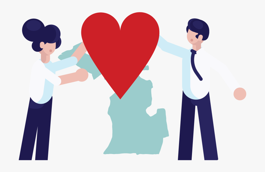 Two People Forming A Nonprofit In Michigan - Nonprofit Organization, Transparent Clipart