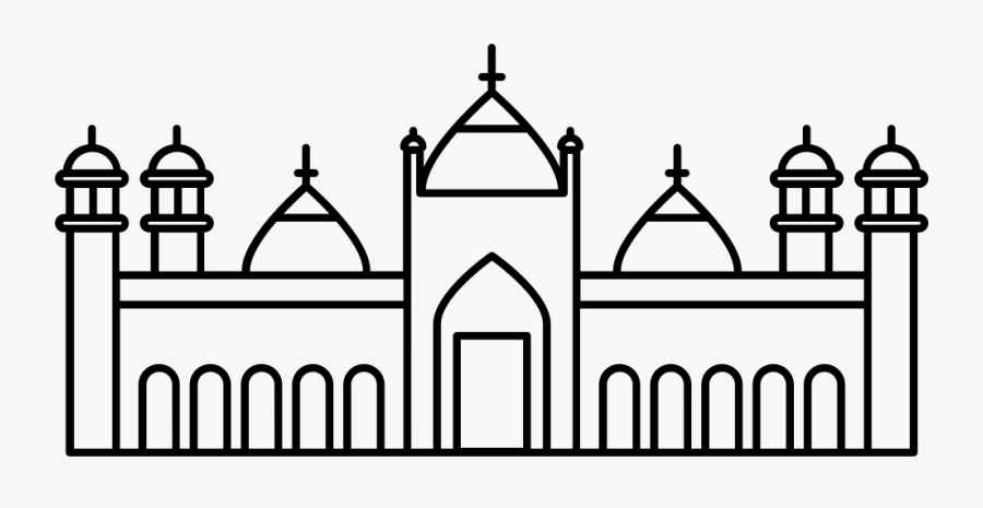 Badshahi Mosque Svg Png Icon Free Download - Sketch Of Badshahi Mosque, Transparent Clipart