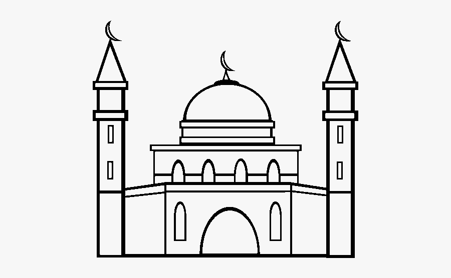 Colouring Pages Of Mosque, Transparent Clipart