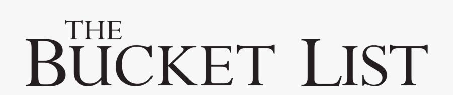 Bucket List Logo Png, Transparent Clipart
