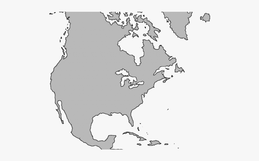 Map Of The Usa Clipart Grey - Technate Of North America, Transparent Clipart