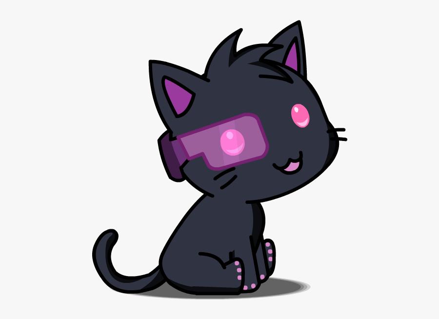 To Medium-sized Cats,fictional Character,black - Gacha Studio Pet Cat, Transparent Clipart