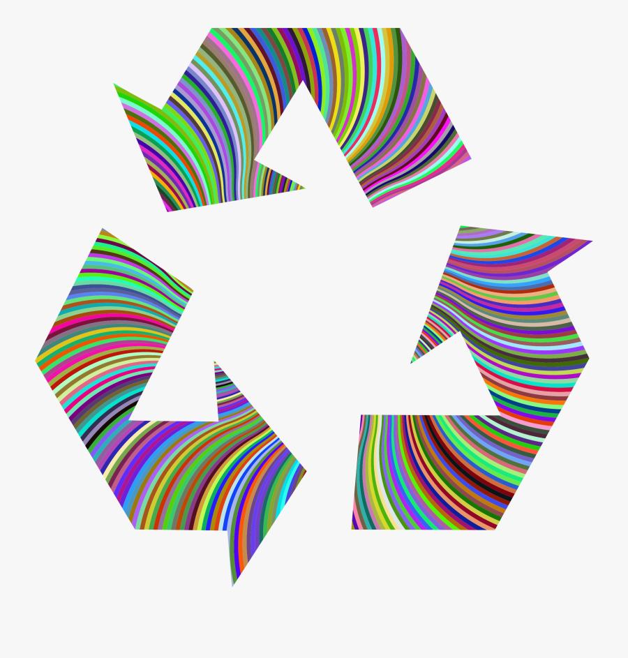 Prismatic Recycling Symbol Clip Arts - Rainbow Recycling Symbol Png, Transparent Clipart