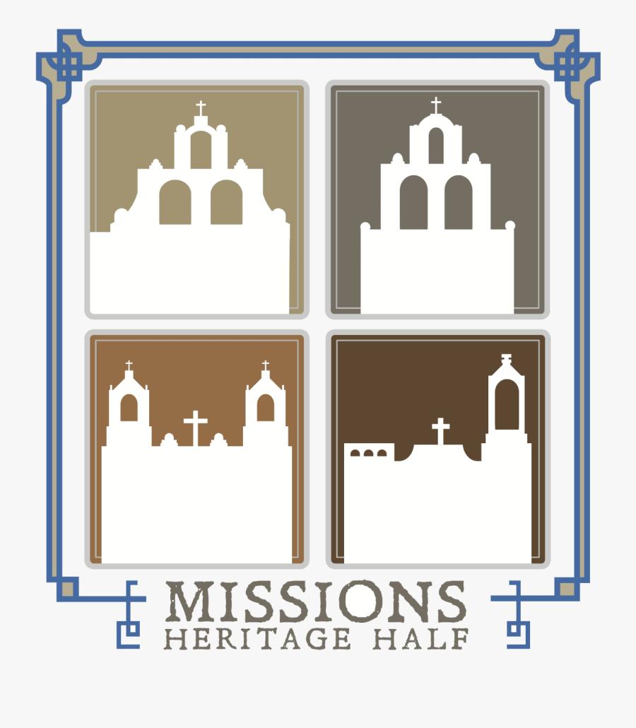 Missions Heritage Half Logo On Raceraves - Illustration, Transparent Clipart