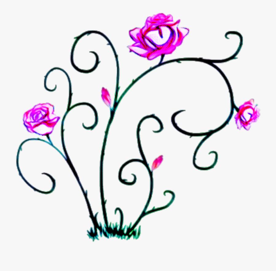 #edits #flowers #vine #thorns #art #stickers, Transparent Clipart