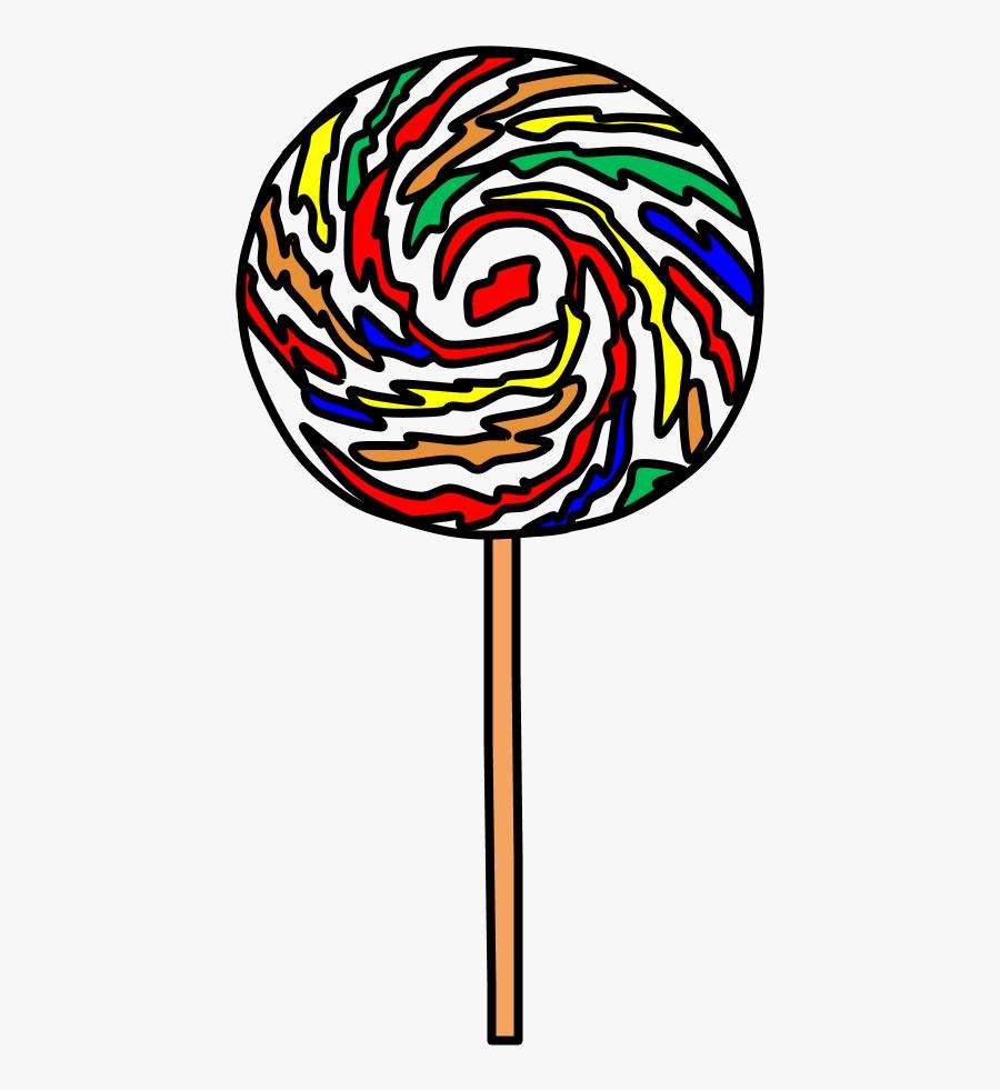 Lollipop, Large, Swirl, Red, Orange, Yellow, Green, - Red Yellow Green Blue Lollipop, Transparent Clipart