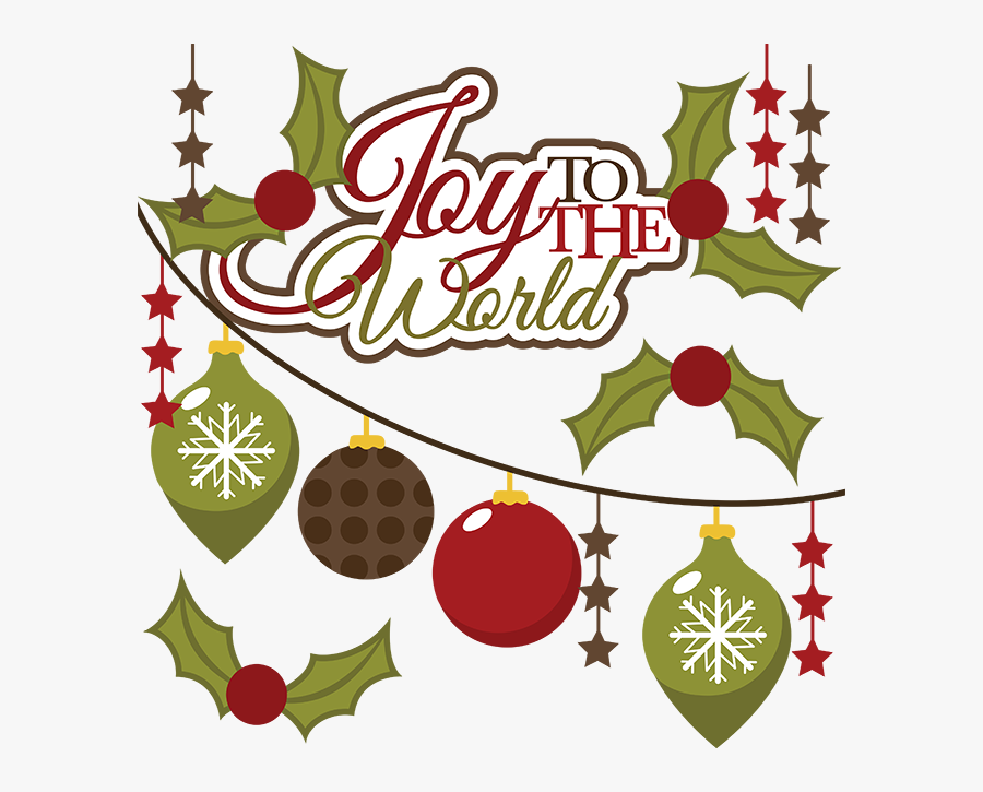 Joy To The World For Religious - Christmas Tree, Transparent Clipart